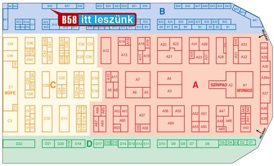 2014 esküvő kiállítás Dj Öcsi Budapest stand térkép